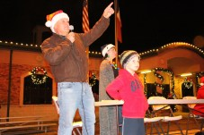 Liberty Mayor Carl Pickett introduces the floats in the Country Christmas parade on