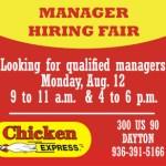 Chicken Express job fair ad