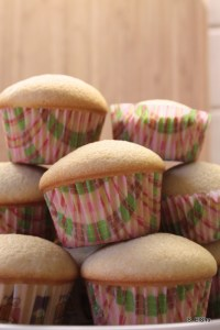 plain cupcake pile