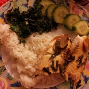 Chinese Ginger Scallion Steamed Tilapia in 20 minutes