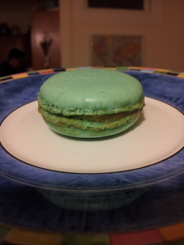 newest flavor Marie Antoinette a light, citron and honey macaron.