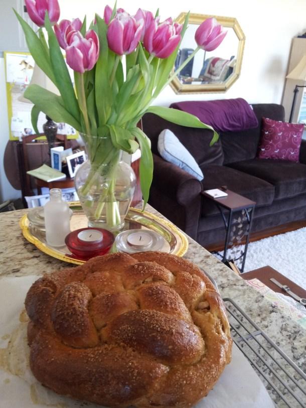 bread cool down & cheery tulips