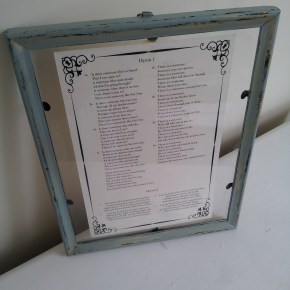 Framed Wedding Program DIY