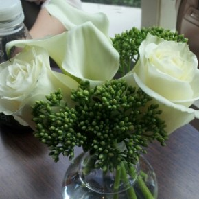 Elegant Lilies and Roses