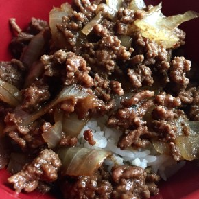 Korean Minced Beef and Onions over Rice