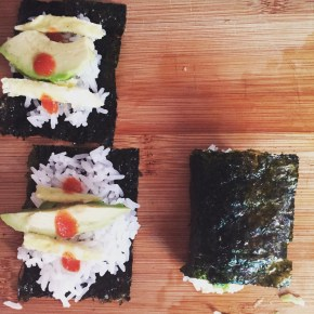 Vegetarian Sushi Roll Dinner – fast!