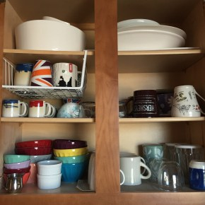 Small Spaces: Tackling  Kitchen Cupboard Reorganization {home projects}