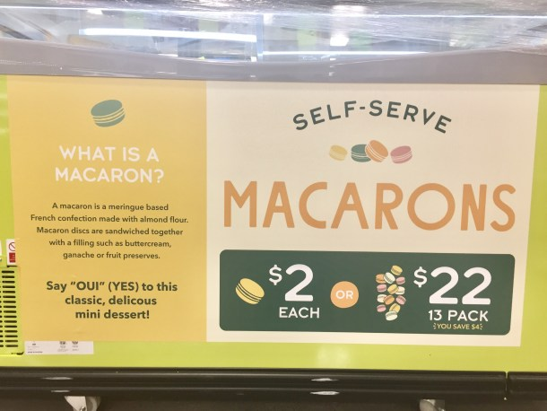 Self Serve Macarons at Whole Foods Sudbury, MA