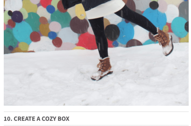 Create a Cozy Box - 10 Best Boston Winter Activities