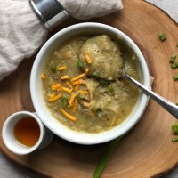 Vegetarian Loaded Baked Potato Soup Recipe