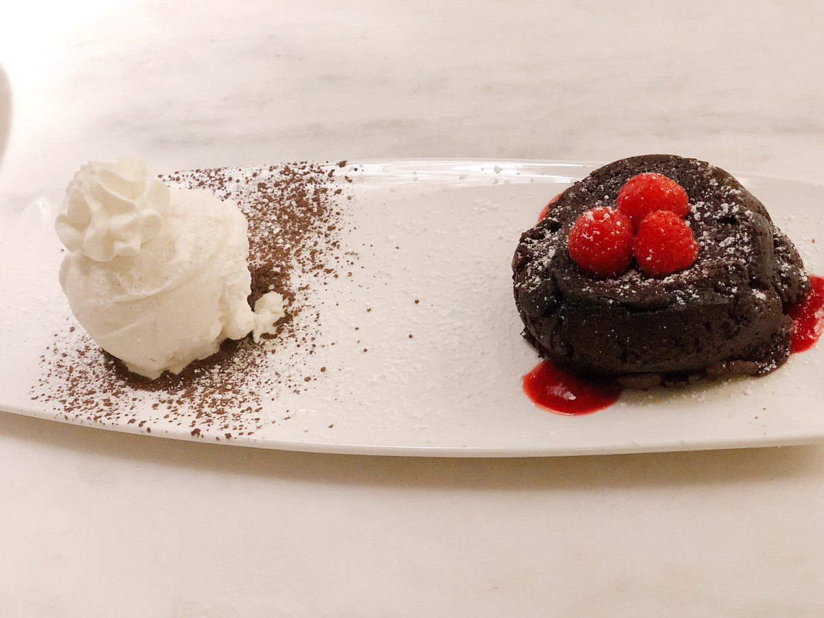 Chocolate Soufflée Cake - Del Frisco's Double Eagle Steakhouse - Back Bay - Boston - Where the BlueBoots Go - BlueBootsGo.com