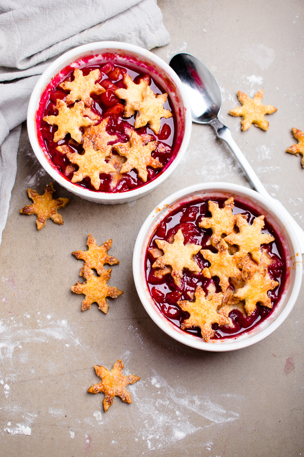cherry cobbler for two