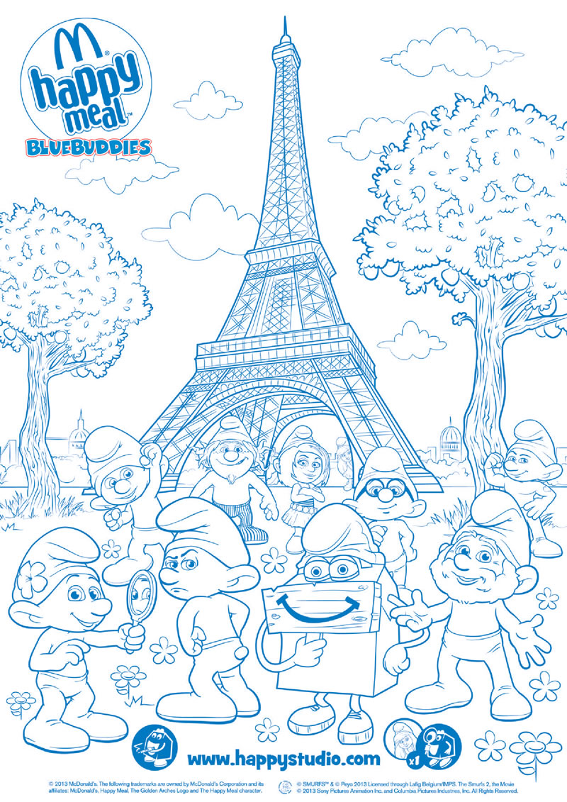 coloring pages of smurfs 2 coloring pages now