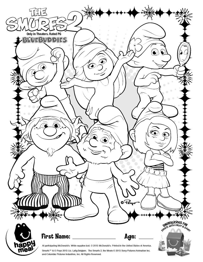 mcdonalds smurfs 2 toys guide bluebuddies com