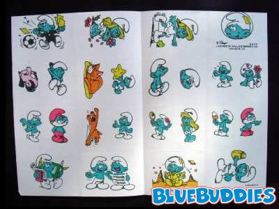 Temporary Smurf Tattoos