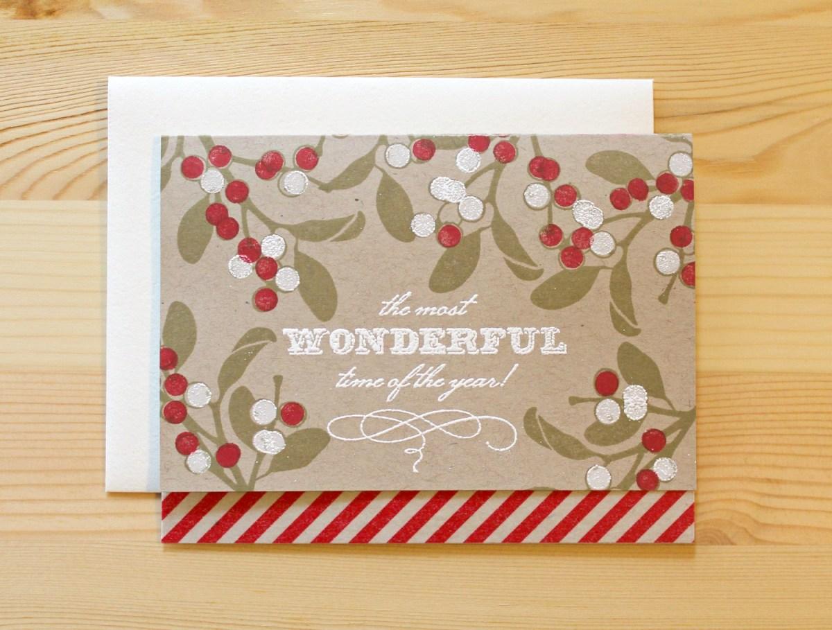 Handmade Holiday Card Swap Bluebuttonpress