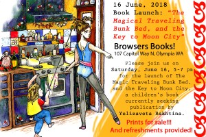 Book Launch: Magical Traveling Bunk Bed, and the Key to Moon City by Yelizaveta Bakhtina @ Browsers Bookshop
