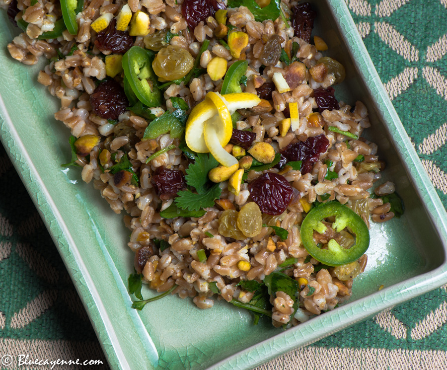 Farro and Pistachio Saladsm2