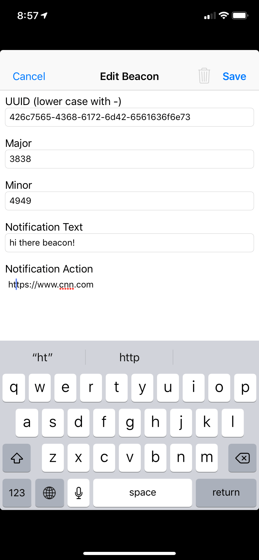 App Suggestions – Blue Charm Beacons