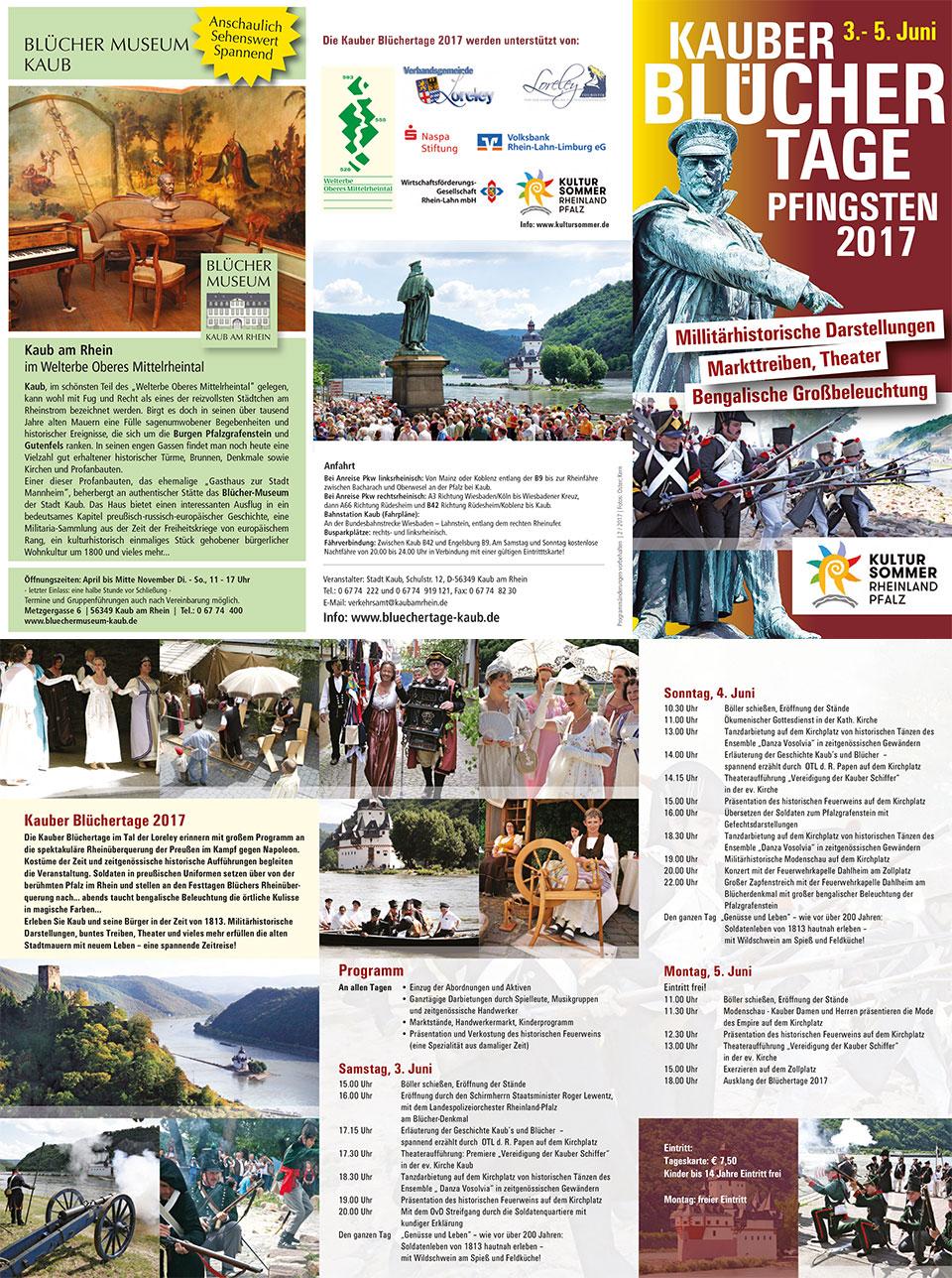 Programm Flyer Blüchertage 2017