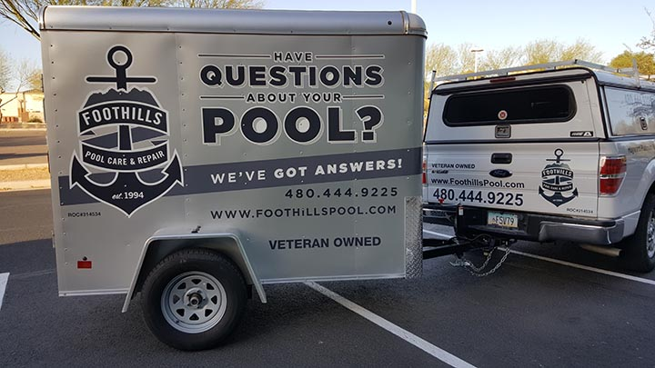 Trailer Graphics in Ahwatukee, AZ for Foothills Pool Care