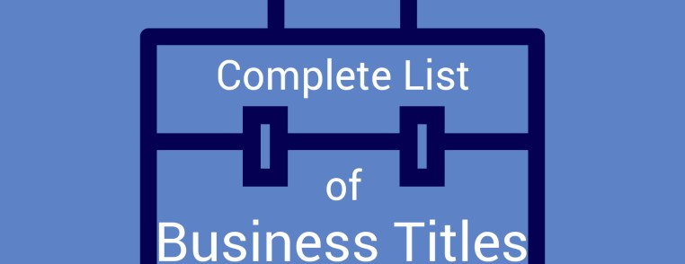 Image of portfolio of business titles