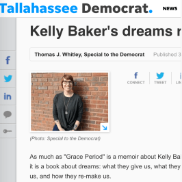 Jan. 2018: Review of Baker's GRACE PERIOD in Tallahassee DEMOCRAT