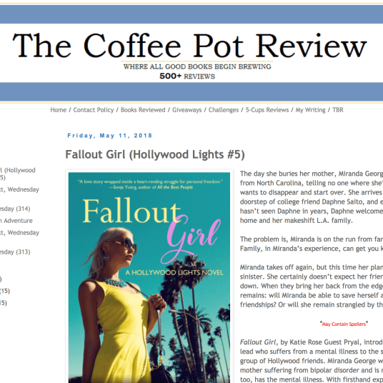 May 2018: Review of Pryal's FALLOUT GIRL