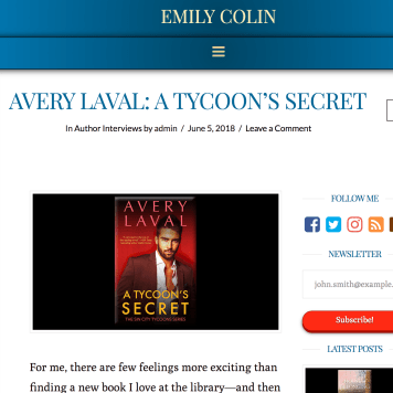 June 2018: Laval Interview about A TYCOON'S SECRET
