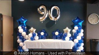 Unique 90th Birthday Party Ideas BLUE CRYSTAL SKY