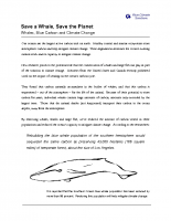 Save a Whale, Save the Planet: Whales, Blue Carbon and Climate Change, Issue Brief, Blue Climate Solutions (18 Sep 2010)