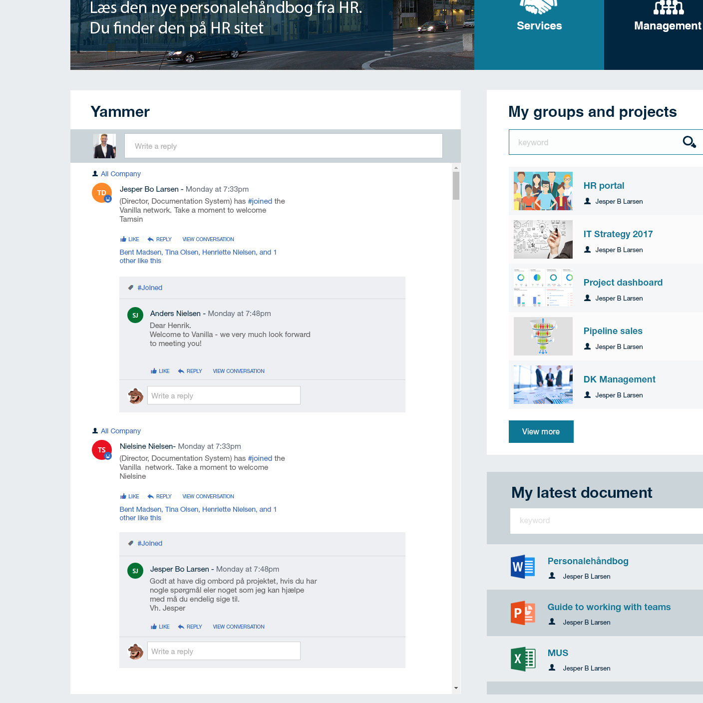 SharePoint intranet, SharePoint intranet
