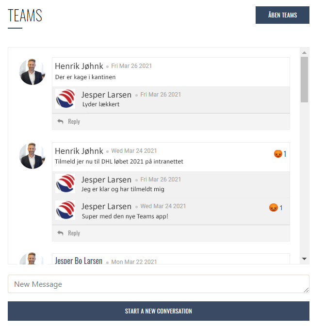Teams App til SharePoint, Teams SharePoint App