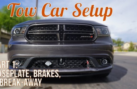 Setting Up our Tow Vehicle [2014 Dodge Durango R/T] – Part One: Intro, Baseplate, & Brakes Stockton California 2018