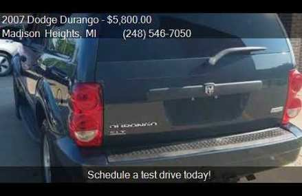 2007 Dodge Durango SLT 4dr SUV 4WD for sale in Madison Heigh Bakersfield California 2018