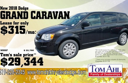 Great Lease Deals on SUV's and Vans at Tom Ahl Chrysler in Mentone 79754 TX