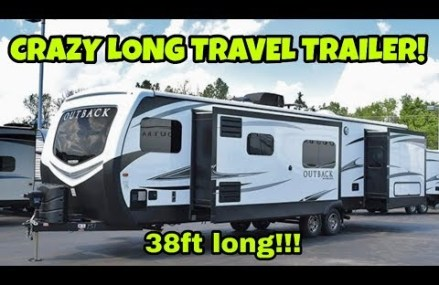 A 38ft Long Travel Trailer?? Check out this behemoth RV! at Marble Hill 63764 MO