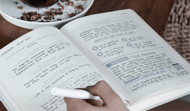 habit creation in a notebook