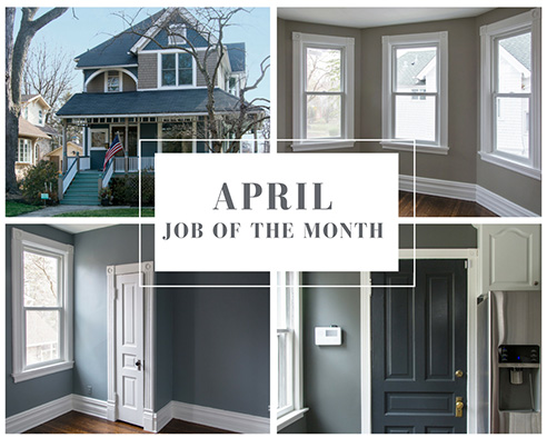 Blue Door Painting Job of the Month