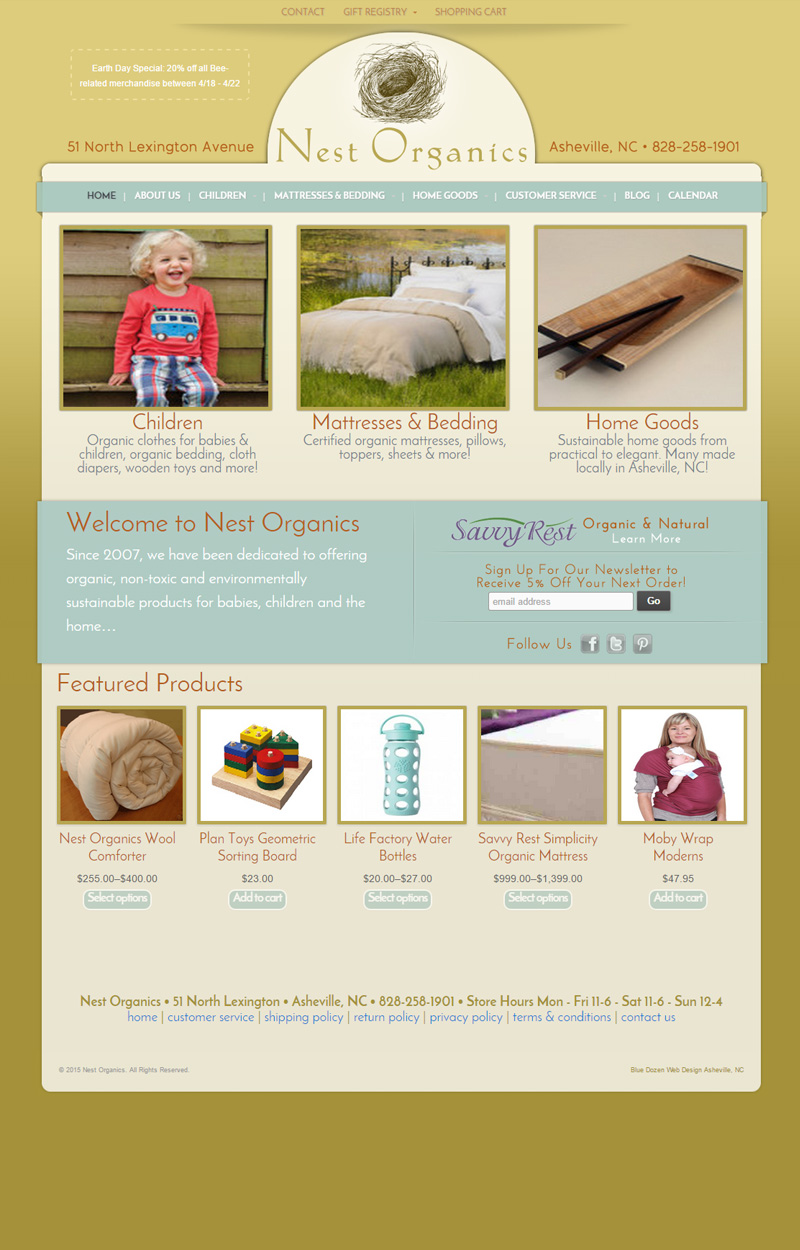 Web Design for Nest Organics