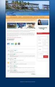 Web Design for Ana G. Zalesky Real Estate