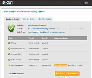 Scan Your WordPress Site with Sucuri