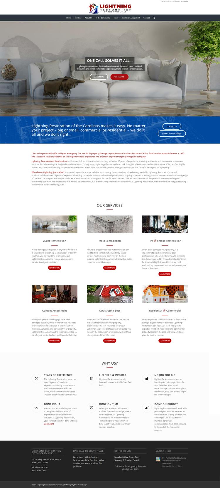 Web Design for Lightning Restoration