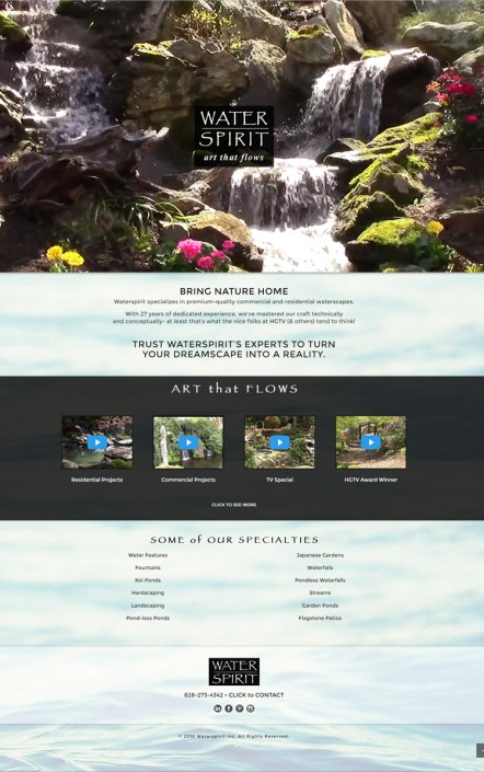 Web Design for Water Spirit