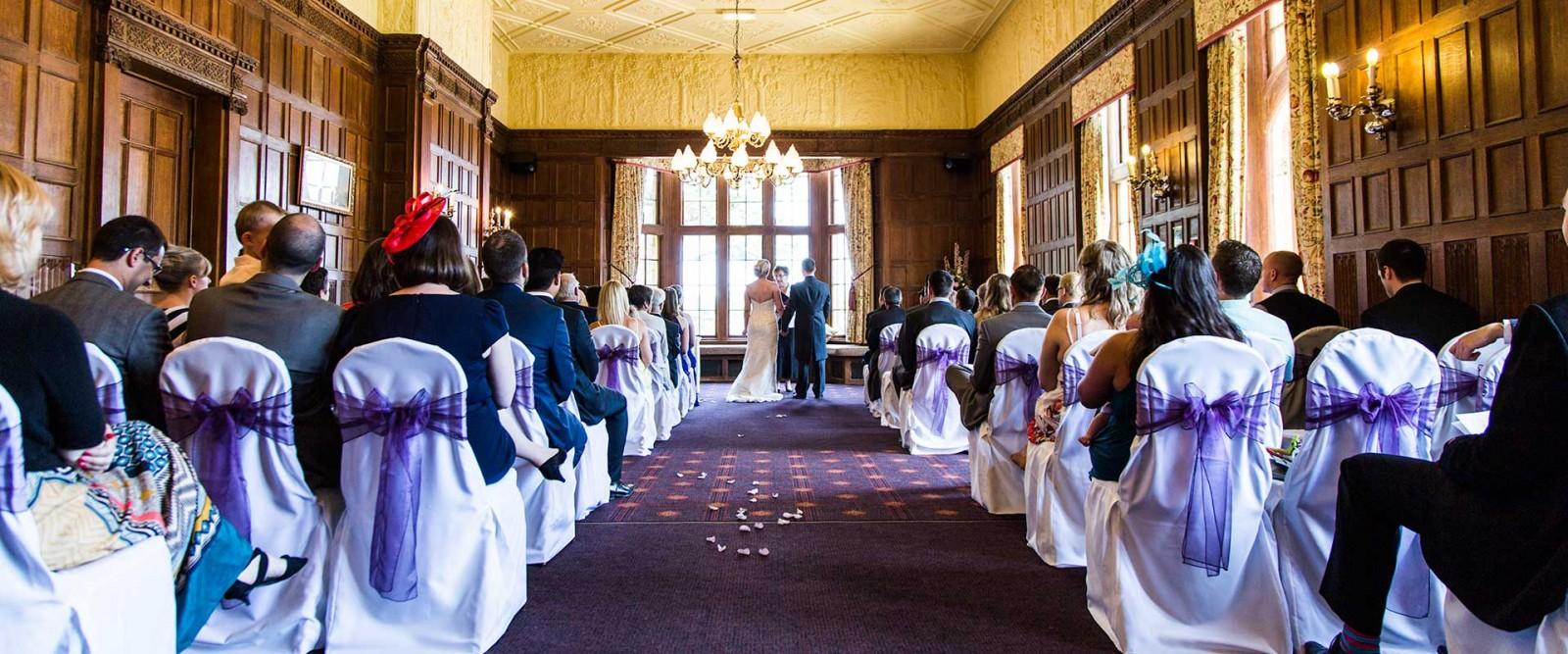 Tom & Thea Wedding Dumbleton Hall Banner