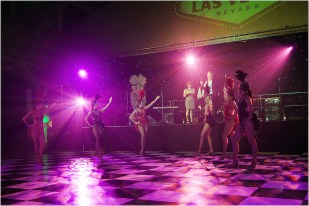 Las vegas themed showgirls at an event