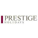 A logo of the Prestige Holidays company