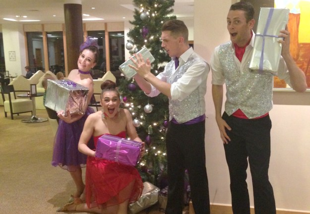 Dancers at a Christmas Event