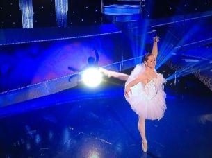 Ballet dancer on set for a tv show