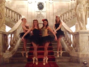 Ballet dancers at an event in Barcelona